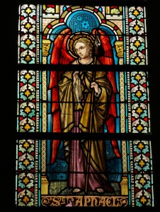 Archangel Raphael Stained Glass Window