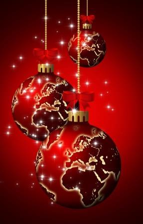 Christmas World Globe Baubles